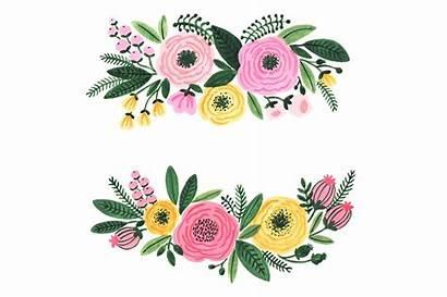 Clipart Watercolor Flowers Garden Flower Floral Clip