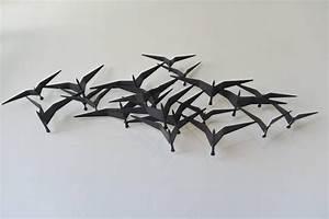 Curtis jere birds in flight metal wall sculpture at stdibs