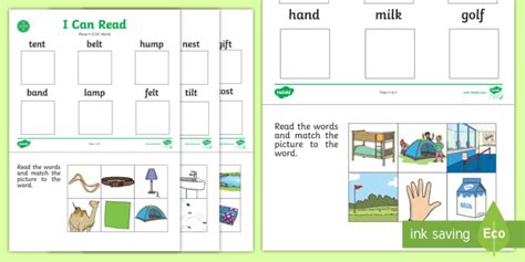 Precursive Free  Middle East I Can Read Phase 4 Cvcc Words Worksheets