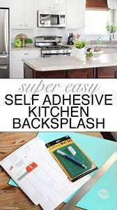 best 25 self adhesive backsplash ideas on pinterest With kitchen cabinets lowes with removable stickers for laptops