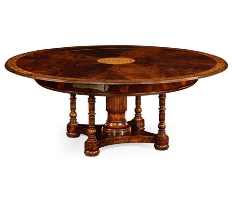6182 Expanding Round Mahogany Dining Table Dining