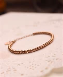 womens girls  rose gold filled simple solid ball beads