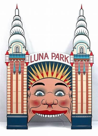 Luna Park Face Clipart Mask Sydney Melbourne