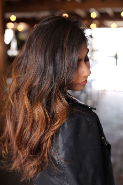 balayage indian hair colour