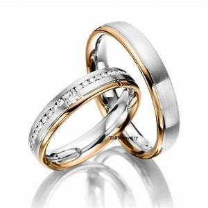 two tones wedding and matching wedding bands on pinterest With mens and womens matching wedding ring sets