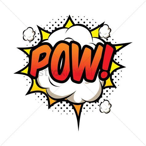 Pow Comic Wording Vector Image Stockunlimited