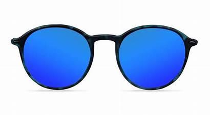 Reflective Cobalt Rounds Sunglasses