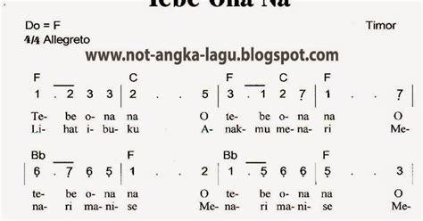 not angka lagu indonesia tanah air beta not angka lagu tebe onana kumpulan not angka lagu