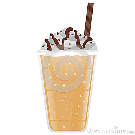 frappe coffee stock vector image