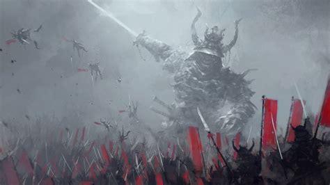 jakub rozalski soldier digital art samurai fighting