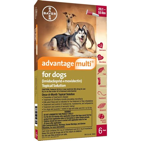 advantage multi  dogs   lbs  months