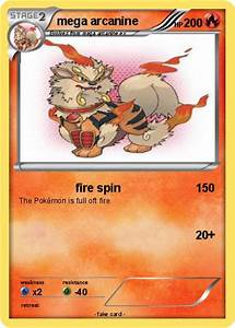 Pokémon mega arcanine 11 11 - fire spin - My Pokemon Card