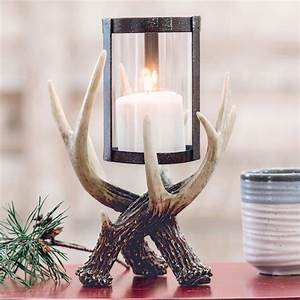 Rustic, Candle, Holders, Antler, Hurricane, Candle, Holder