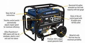 Powerhorse Portable Generator 9000 Surgew 7250 Ratedw Elec