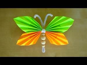 Schmetterlinge Aus Tonpapier Basteln : schmetterlinge basteln mit papier tiere basteln basteln ideen diy geschenke youtube ~ Orissabook.com Haus und Dekorationen