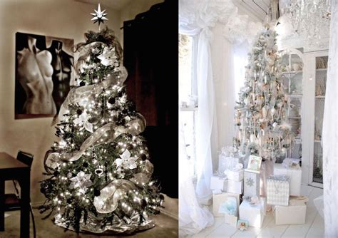 Inspiring Silver And White Christmas Tree Decorations
