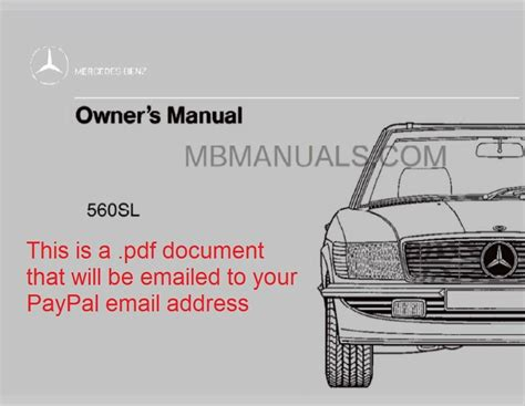 service manuals schematics 1986 mercedes benz sl class seat position control pdf mercedes benz 560sl owners operation manual 1986 1987 1988 1989 560 sl r107 ebay