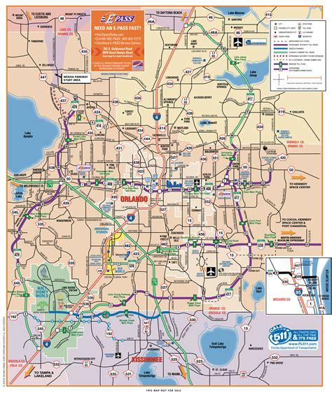 orlando highway map orlando mappery