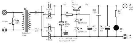 220v Ac To 12v Dc Converter Circuit Diagram Without Transformer