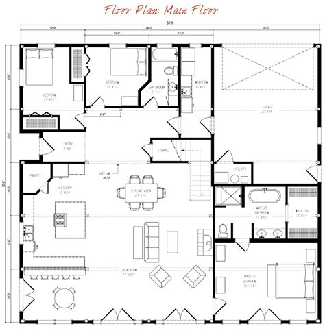 gambrel house plans great plains gambrel floor plan by sand creek post beam