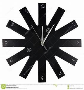 Horloge Moderne Murale : horloge murale moderne noire stock images 31 photos ~ Teatrodelosmanantiales.com Idées de Décoration