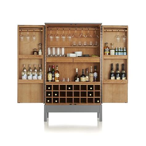 Crate And Barrel Victuals Bar Cabinet by Victuals Grey Bar Cabinet