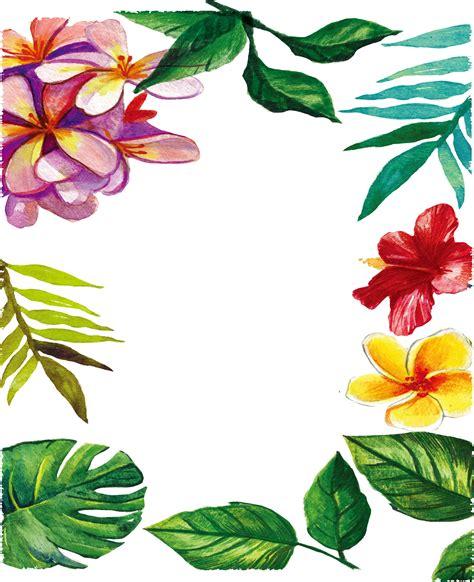 Marcos de flores para fotos en PNG Descargar Marcos