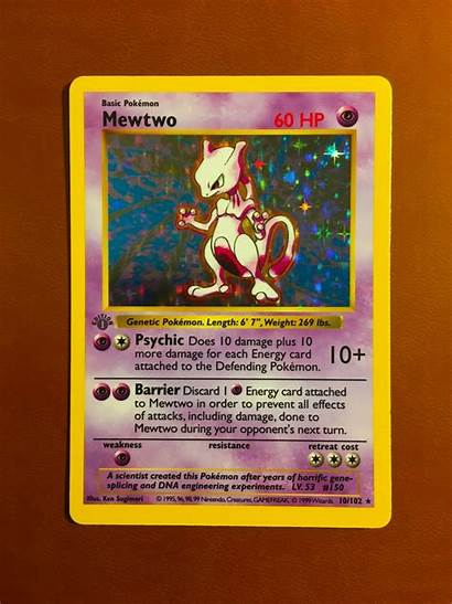 Mewtwo Pokemon Edition 1st Holo Shadowless 1999