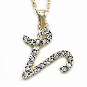 new initial alphabet letter v pendant necklace high polish With letter v necklace gold