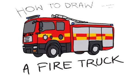 easy draw fire truck