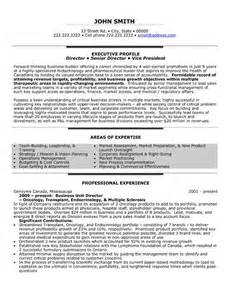 resume of business unit manager 48 best images about best executive resume templates sles on click exles
