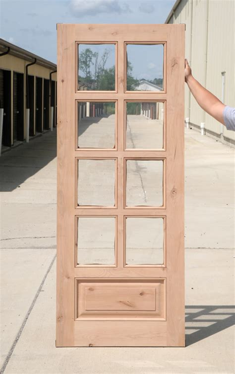 interior clearance knotty alder  lite french doors