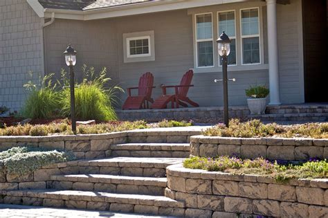 front yard retaining wall front yard landscaping ideas contemporary landscape other metro by allan block retaining