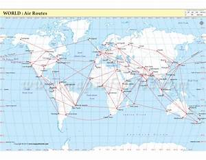 Buy Air Route Map : World