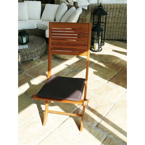 chaise pliante jardin lot de 2 chaises pliantes de jardin en bois fsc kussi