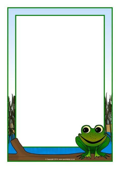 frog  page borders sb sparklebox frog