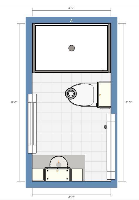 bathroom stall shower floor plan bathrooms
