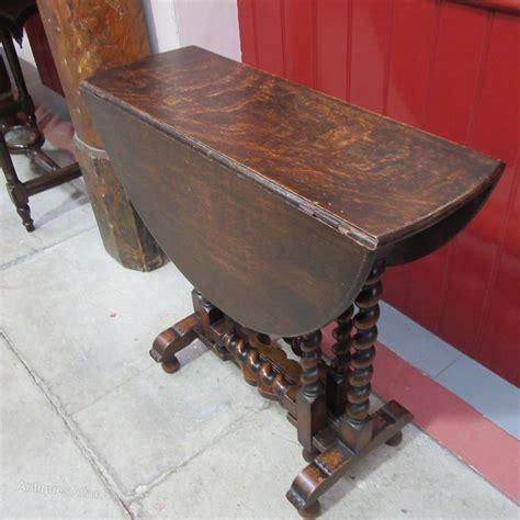 antique oak  barley twist gateleg table antiques atlas