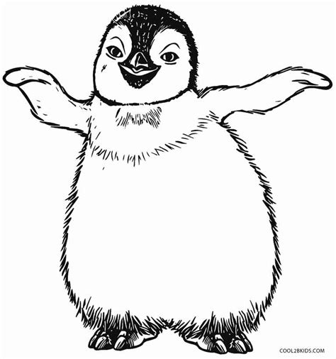 printable penguin coloring pages  kids