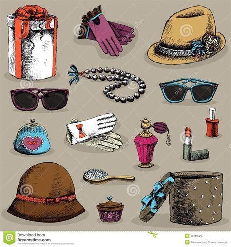 womens accessories set stock vector illustration
