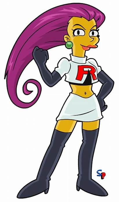 Pokemon Jessie Team Rocket Simpsons Rockets Springfield