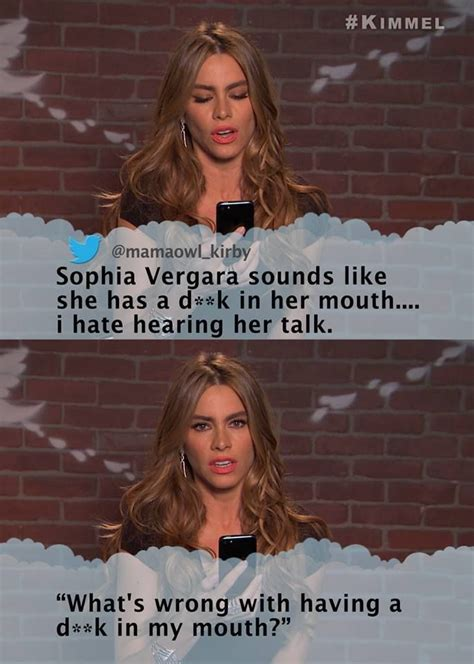 sofia vergara mean tweets from jimmy kimmel where celebrities read mean tweets about