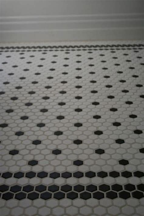 hexagon floor tile 37 black and white hexagon bathroom floor tile ideas and