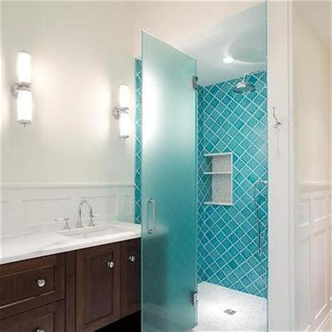 Blue Arabesque Tiles   Contemporary   Bathroom