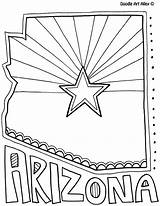 Arizona States State Coloring United Pages Doodle Sheets Flag 50 Alley Doodles Facts Printables Classroom Adult Printable Mediafire Flags Crayola sketch template
