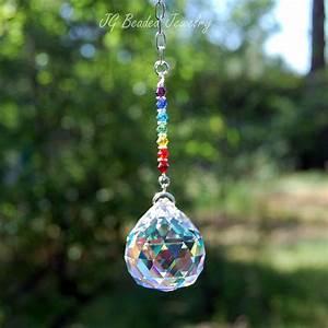 Chakra Prism Crystal Suncatcher - JG Beads