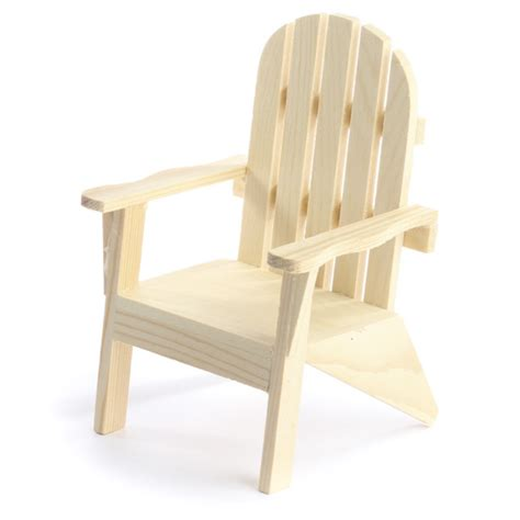 unfinished wood adirondack chair doll accessories doll