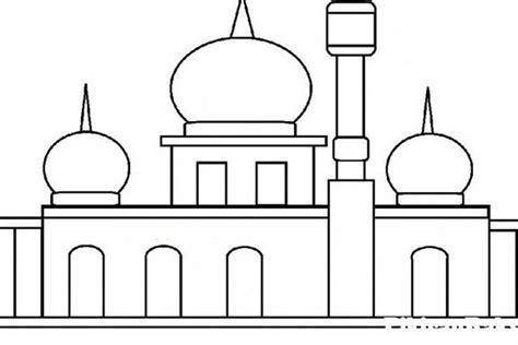 gambar masjid kartun mewarnai gambar sketsa masjid 7