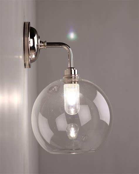 glass bathroom light shades lenham contemporary clear glass bathroom wall light