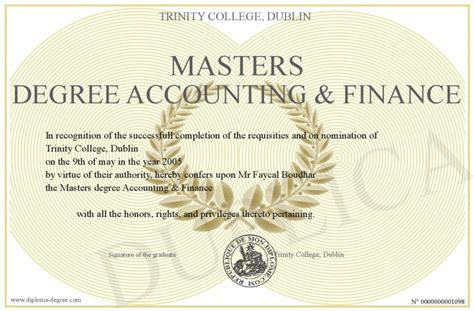 masters degree accounting finance